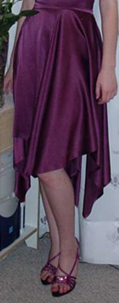 Платье для выпускного бала, фрагмент низа